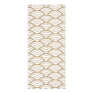 art deco,japanese fan pattern, gold,white,vintage, rack card