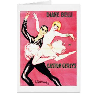 Art Deco Jazz Age Dance Couple Card