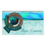Art Deco Jewels Blue Business Card Templates
