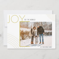Art Deco (L) Holiday Photo Card & Year in Review