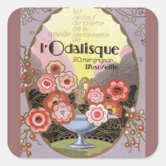 Art Deco l' Odalisque Perfume Label Stickers