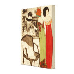 Art Deco ~ Ladies and the Painting Canvas Print