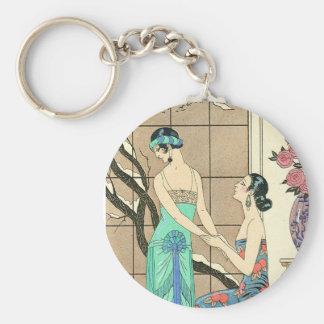 Art Deco Ladies By the Window Key Chain