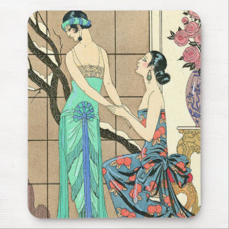 Art Deco Ladies By the Window Mouse Pad