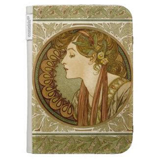 Art Deco Lady Caseable Kindle Cover