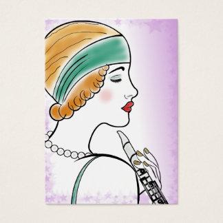 Art Deco Lady Fashion, Costume Designer, Cosmetic Business Card