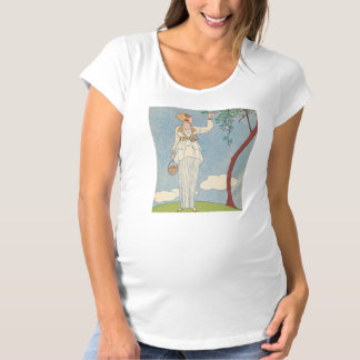 Art Deco Lady - Harvesting fruit. Maternity T-Shirt