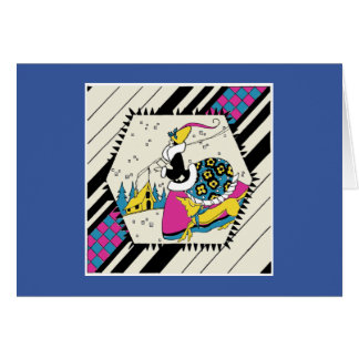 Art Deco Lady in a Bustle with a Dog Card