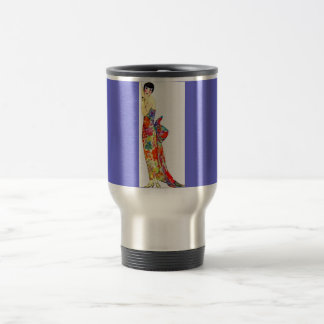 Art Deco Lady in formal Gown 15 Oz Stainless Steel Travel Mug