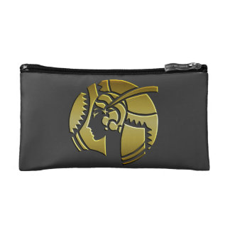 Art Deco Lady in Gold Makeup Bag