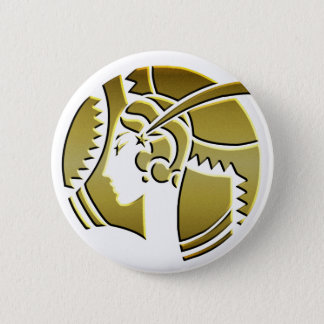 Art Deco Lady in Gold Pinback Button