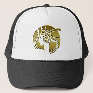 Art Deco Lady in Gold Trucker Hat
