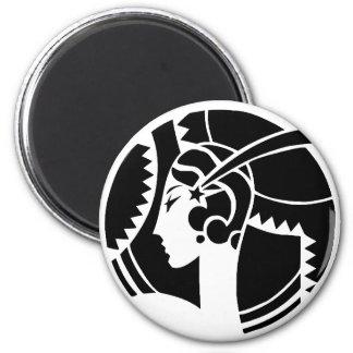 Art Deco Lady Magnet