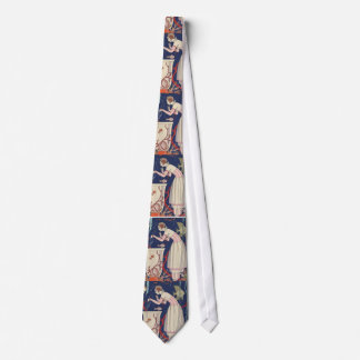 Art Deco Lady - Playing fish. Tie