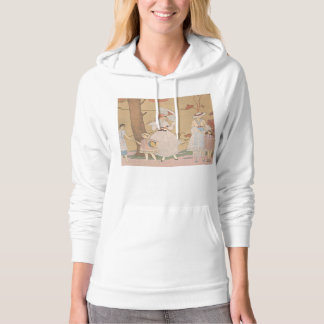 Art Deco Lady – Playing with the girls in the gard Hoodie