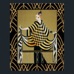 """Art Deco Lady Poster<br><div class=""""desc"""">I created this poster a while ago. The picture of the Art Deco woman is an Erte image. I have embellished it with an Art Deco border. I have also cleared and brightened this image to make this poster. Lovely Art Deco poster for your home. You could make this into...</div>"""
