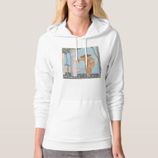 Art Deco Lady – Standing along the beach. Hoodie