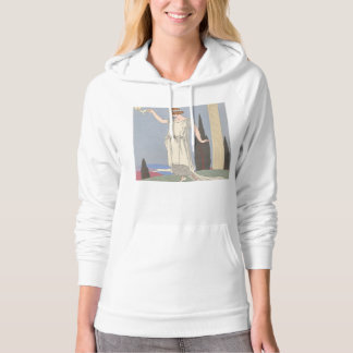 Art Deco Lady – Standing beside the pillar. Hoodie