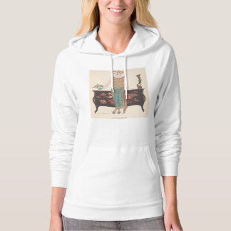 Art Deco Lady – Standing beside the table. Hoodie