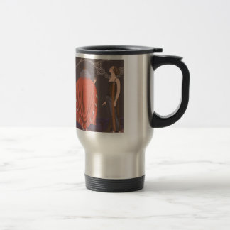 Art Deco Lady - Standing beside the tree. Travel Mug