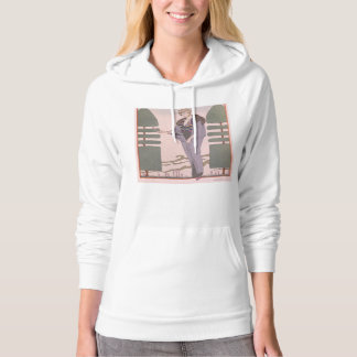 Art Deco Lady - Standing beside the trimmed plant. Hoodie