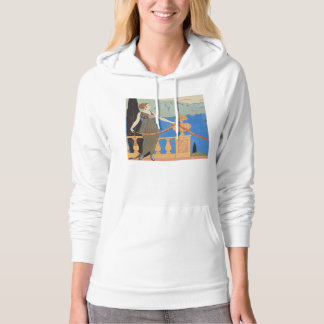 Art Deco Lady – Standing beyond the sea. Hoodie