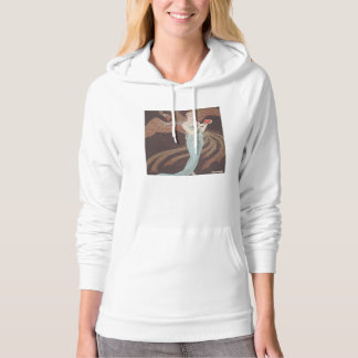 Art Deco Lady – Standing in front of the bird. Hoodie