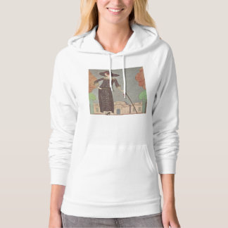 Art Deco Lady – Standing in front of the building. Hoodie