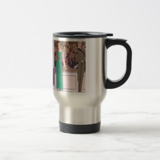 Art Deco Lady - Standing in front of the cabinet. Travel Mug