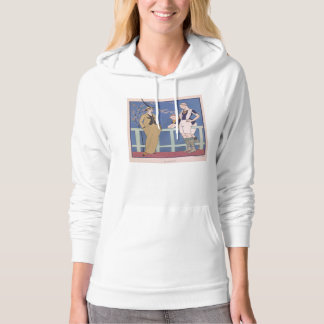 Art Deco Lady – Standing in front of the table. Hoodie