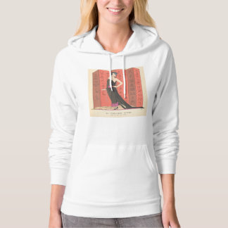 Art Deco Lady – Standing in front of the wall. Hoodie