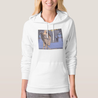Art Deco Lady – Standing on the street. Hoodie