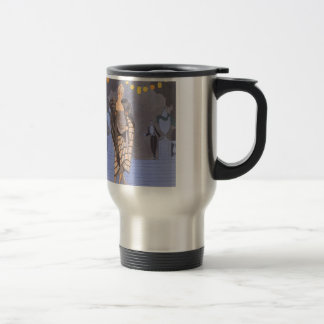 Art Deco Lady – Standing on the street. Travel Mug