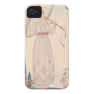 Art Deco Lady – Standing with umbrella. iPhone 4 Cover