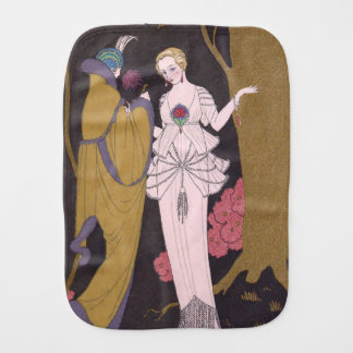 Art Deco Lady – Two ladies on the forest. Burp Cloth