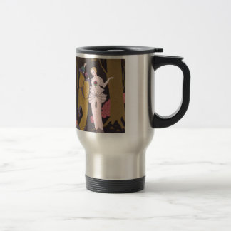 Art Deco Lady – Two ladies on the forest. Travel Mug