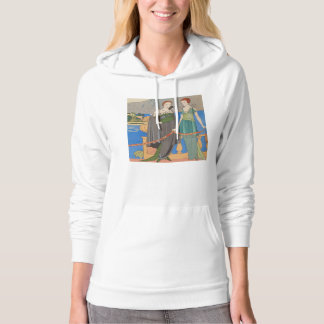 Art Deco Lady –Two ladies standing beyond the sea. Hoodie