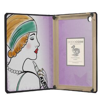 Art Deco Lady with Clarinet Purple iPad Mini Case