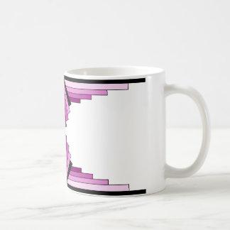Art Deco Layers in Pinks Coffee Mug