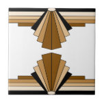 "Art Deco Layers in Tan Tile<br><div class=""desc"">Classic art deco patterns in tans,  browns and beiges</div>"