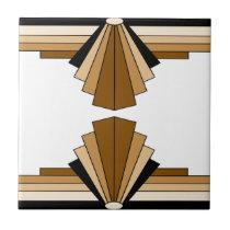 Art Deco Layers in Tan Tile