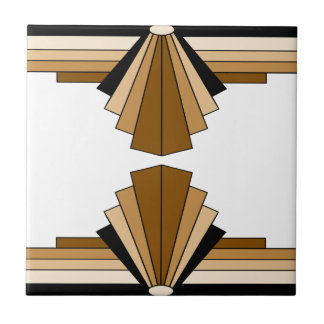 Art Deco Layers in Tan Tile