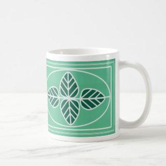 Art Deco Leaf Design Coffee Mug