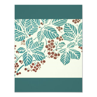 Art Deco Leaves and Berries Stencil Card
