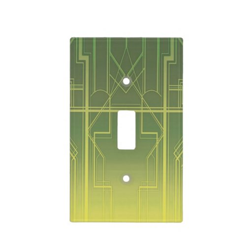 Art deco light switch cover zazzle - Art deco switch plate covers ...