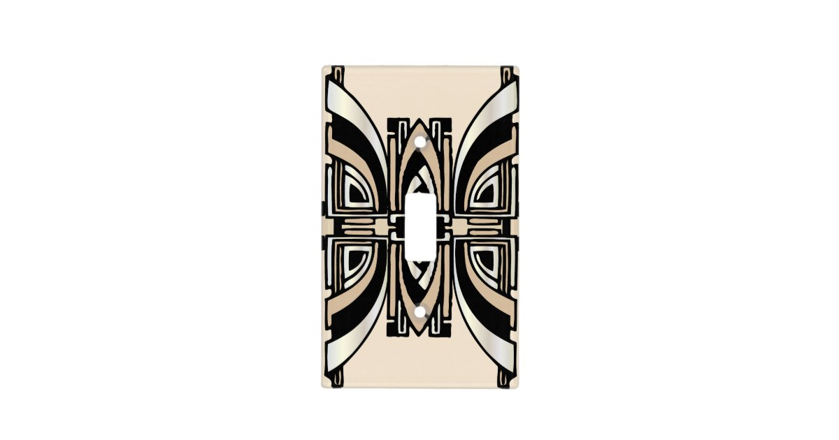 Art deco lightswitch cover light switch covers zazzle - Art deco switch plate covers ...