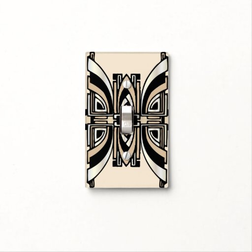 Art deco lightswitch cover light switch plate zazzle - Art deco switch plate covers ...