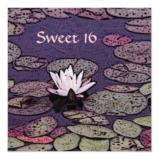 art deco lily pond sweet 16 invitation template