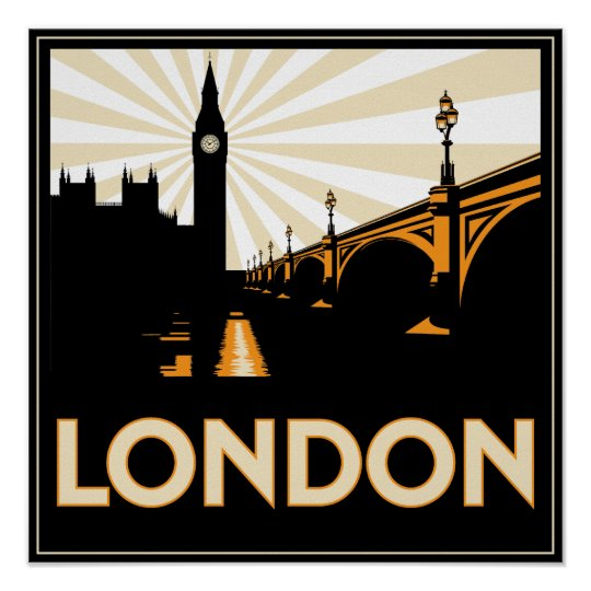 Art Deco Posters: Art Deco London Poster