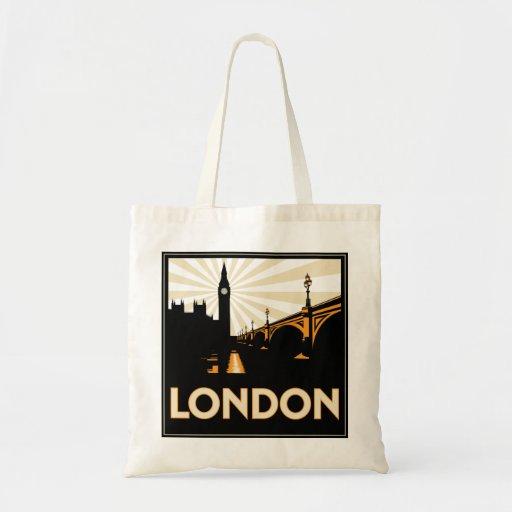Art deco london shopping bag zazzle for Art deco online shop